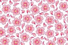 Modèle de fleurs de cerise Images libres de droits