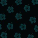Modèle de fleurs de ketmie Photos libres de droits