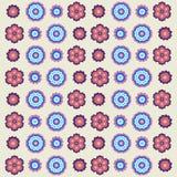Modèle de fleurs de vintage dans de rétros couleurs Image libre de droits