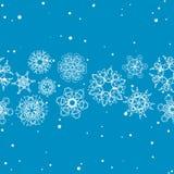 Modèle de flocon de neige Texture sans joint de vecteur Concept de Noël et d'an neuf Photo libre de droits