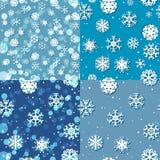 Modèle de flocon de neige Texture sans joint de vecteur Concept de Noël et d'an neuf Photographie stock libre de droits