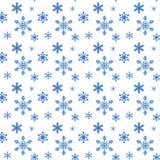 Modèle de flocon de neige sans couture illustration de vecteur