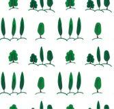Modèle de fond avec des arbres Photos libres de droits