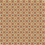 Modèle de fond brun clair avec les points verts Image libre de droits