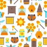 Modèle de fond de couleur d'abeille de bande dessinée Vecteur Photo libre de droits