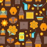 Modèle de fond de couleur d'abeille de bande dessinée Vecteur Images stock