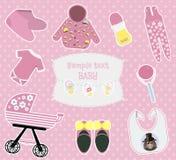 Modèle de fond d'enfants avec le bébé coloré illustration de vecteur