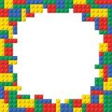 Modèle de fond de cadre de brique de bloc constitutif Image stock