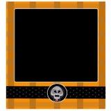 Modèle de fond de carte de vintage de Halloween Image libre de droits