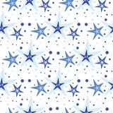 Modèle de fond de vecteur avec des étoiles de mer Images stock