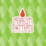 Modèle de forêt Images libres de droits