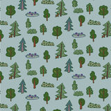 Modèle de forêt d'arbres Images stock