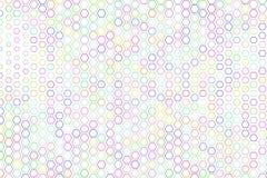 Modèle de forme d'hexagone coloré par résumé Digital, art, décoration et concept Photo stock