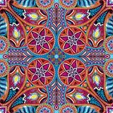 Modèle de foulard de place de vecteur de Boho Paisley illustration libre de droits
