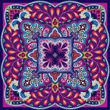 Modèle de foulard de place de vecteur de Paisley Photographie stock