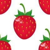 Modèle de fraise d'impression d'impression Photographie stock