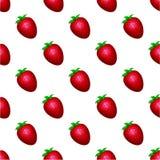 Modèle de fraise sur un fond blanc Photographie stock libre de droits