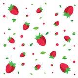 Modèle de fraises Photo stock