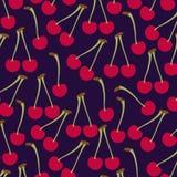 Modèle de fruit frais de cerises illustration stock