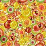 Modèle de fruit sur des soucoupes Photographie stock libre de droits