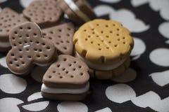 Modèle de gâteau et de biscuits Photographie stock
