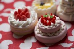 Modèle de gâteau et de biscuits Photo stock