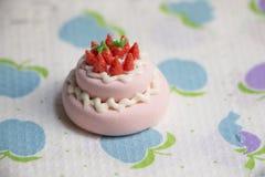 Modèle de gâteau et de biscuits Image libre de droits