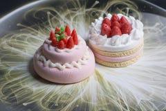 Modèle de gâteau et de biscuits Images libres de droits