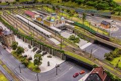 Modèle de gare ferroviaire Images stock