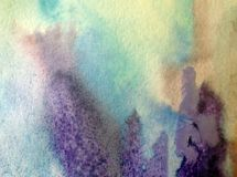 Modèle de glace d'hiver de neige de fond d'art d'aquarelle créatif Images stock