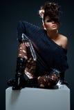 Modèle de Glamor Images stock