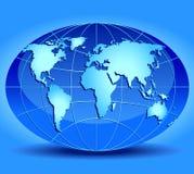 Modèle de globe illustration de vecteur