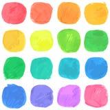 Modèle de gouttes d'aquarelle de vecteur Image libre de droits