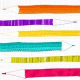 Modèle de graphiques d'abrégé sur texture de crayon Photos libres de droits