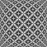 Modèle de grille déformé par monochrome de conception illustration stock
