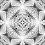 Modèle de grille déformé par monochrome de conception illustration libre de droits