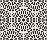 Modèle de grille géométrique noir et blanc sans couture de dentelle de vecteur Photos libres de droits