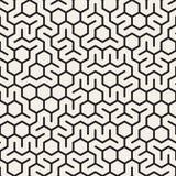 Modèle de grille hexagonal irrégulier noir et blanc sans couture de vecteur illustration de vecteur