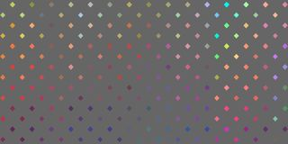 Modèle de grille multicolore spectral de points Fond gris Bannière iridescente abstraite illustration libre de droits