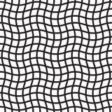 Modèle de grille ondulé sans couture Fond à carreaux géométrique abstrait de maille illustration de vecteur