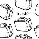 Modèle de grille-pain illustration stock