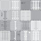 Modèle de gris de récipients de cargaison Photographie stock libre de droits