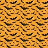 Modèle de Halloween avec des battes illustration stock