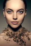 Modèle de haute couture Girl Style P de Vogue de haute couture de femme de beauté Images libres de droits