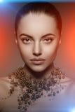 Modèle de haute couture Girl Style P de Vogue de haute couture de femme de beauté Photographie stock libre de droits