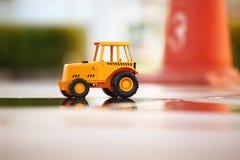 Modèle de jouet de tracteur Image libre de droits
