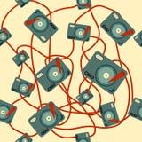 Modèle de joueur de disque vinyle Image libre de droits