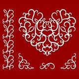 Modèle de jour de valentines avec le coeur Image stock