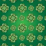 Modèle de jour du ` s de St Patrick avec le trèfle 3d Photos stock