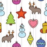 Modèle de Joyeux Noël et de bonne année Photos stock
